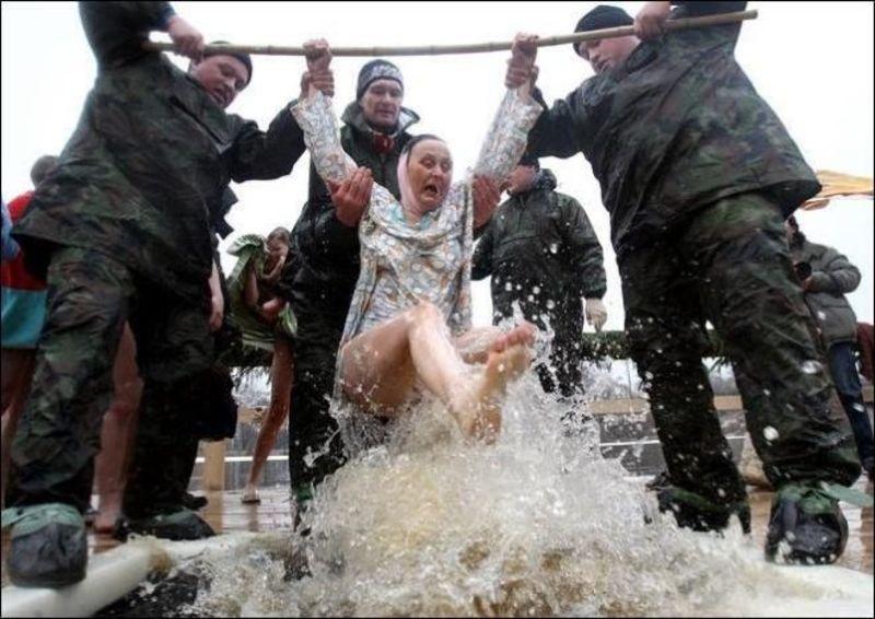Смешная картинка на крещение