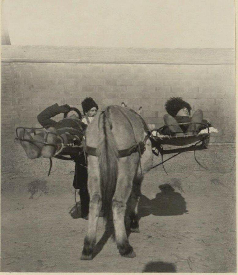 Летучий санитарный отряд в Мукдене, 1905 год 19 век, жизнь до революции, редкие фотографии, снимки, фотографии, царская россия