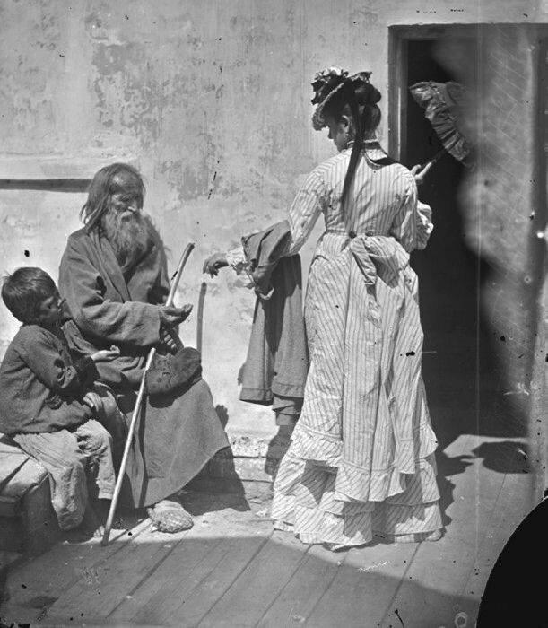 Милостыня, Нижний Новгород, 1870-е годы 19 век, жизнь до революции, редкие фотографии, снимки, фотографии, царская россия