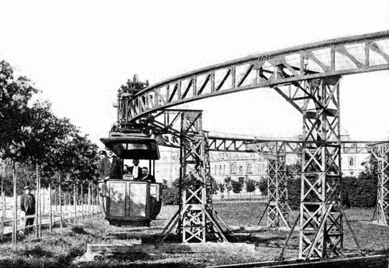 Подвесная электрическая дорога 19 век, жизнь до революции, редкие фотографии, снимки, фотографии, царская россия
