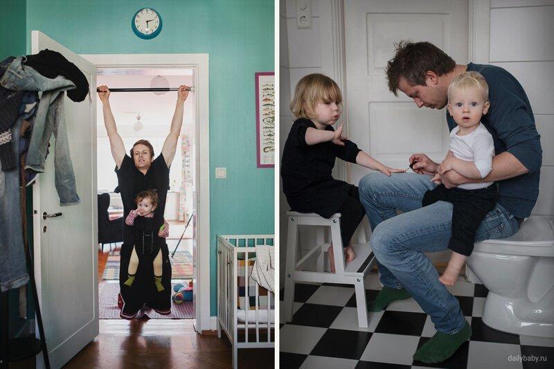 Будни папы дети цветы жизни, материнство, отцовство, смешно, честное материнство, юмор