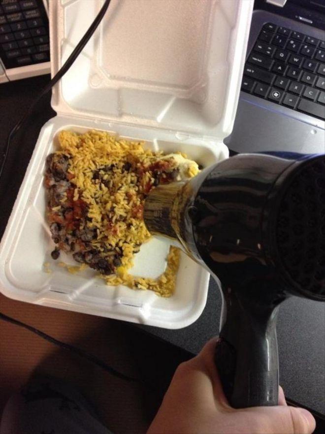 Разогрев еды