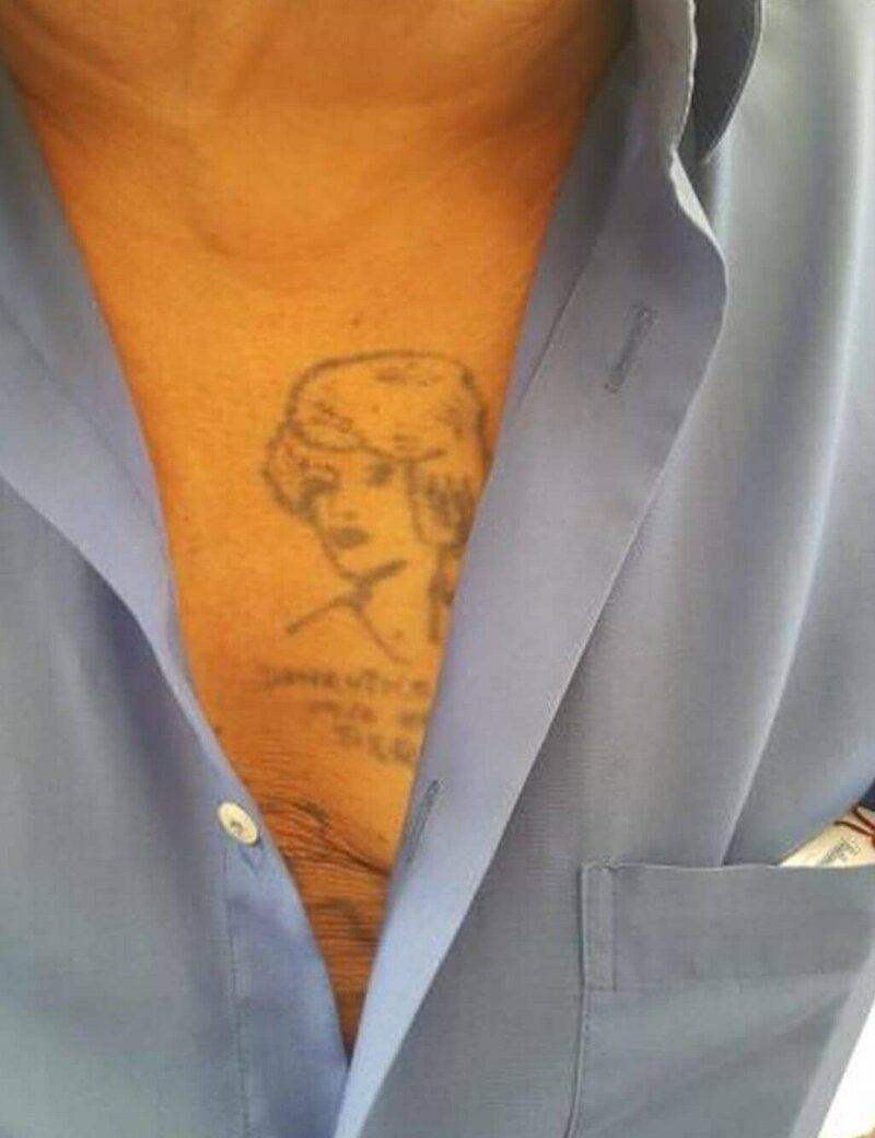 13. Леди Диана примерно 80-е в старости тату, время неумолимо, татуировки, татухи, фото