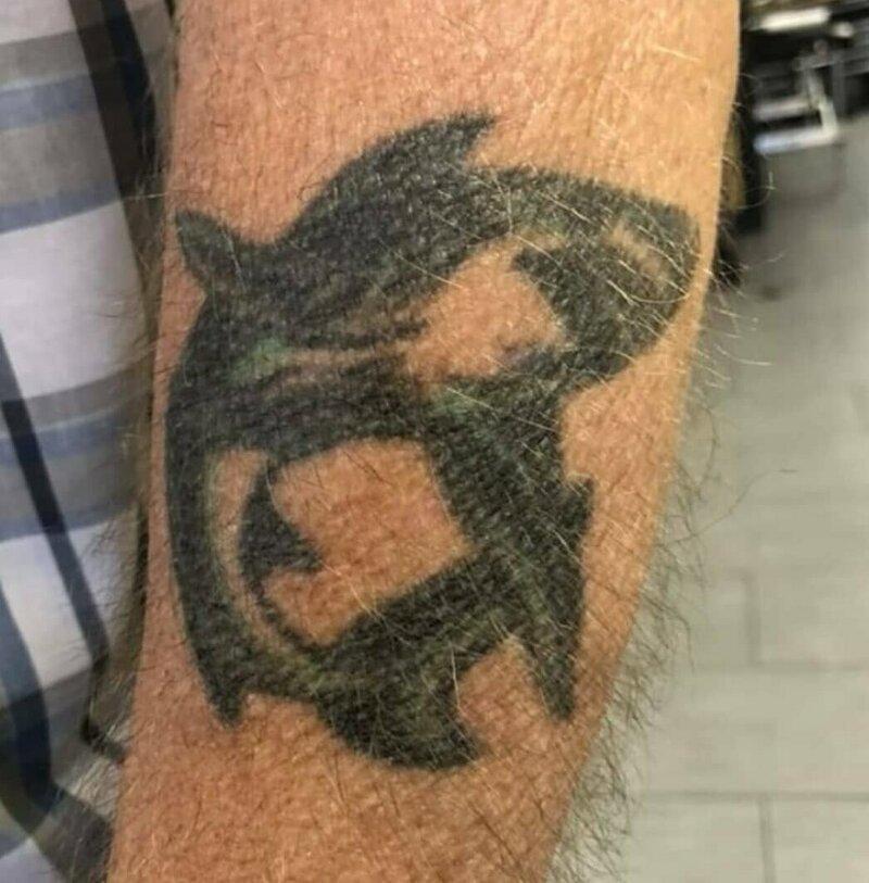 2. Этот рисунок украшает тело с 1956 года в старости тату, время неумолимо, татуировки, татухи, фото