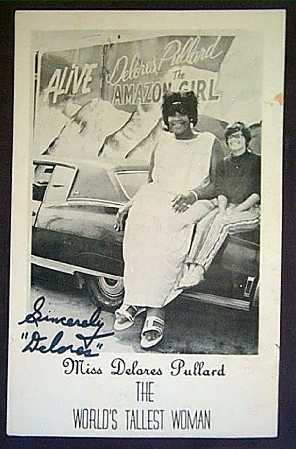 18. Делорес Пуллард - 227 см великаны, высокие девушки, высокие люди, гиганты, познавательно, самые высокие, самые высокие люди в мире, факты