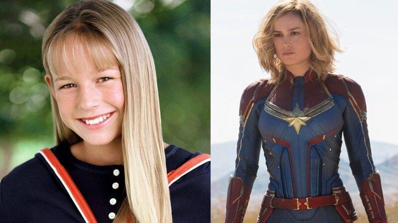 Кэролл Дэнверс / Капитан Марвел — Бри Ларсон Avengers Endgame, актеры в детстве и сейчас, детство звезд, марвел, мстители, супергерои