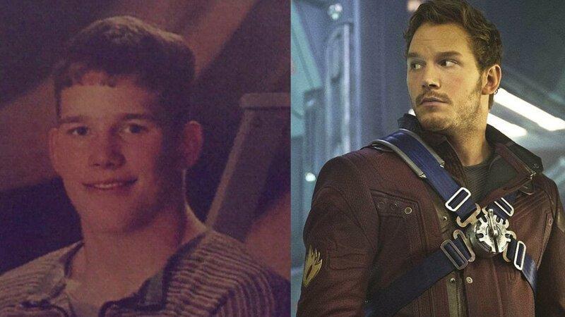 Питер Квилл / Звездный Лорд – Крис Прэтт Avengers Endgame, актеры в детстве и сейчас, детство звезд, марвел, мстители, супергерои