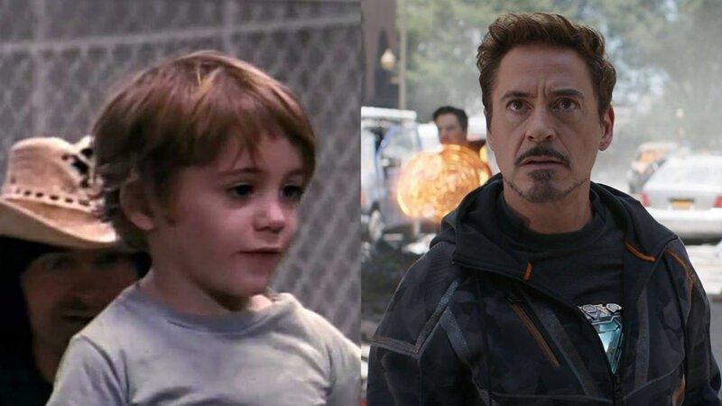 Тони Старк / Железный человек – Роберт Дауни-младший Avengers Endgame, актеры в детстве и сейчас, детство звезд, марвел, мстители, супергерои
