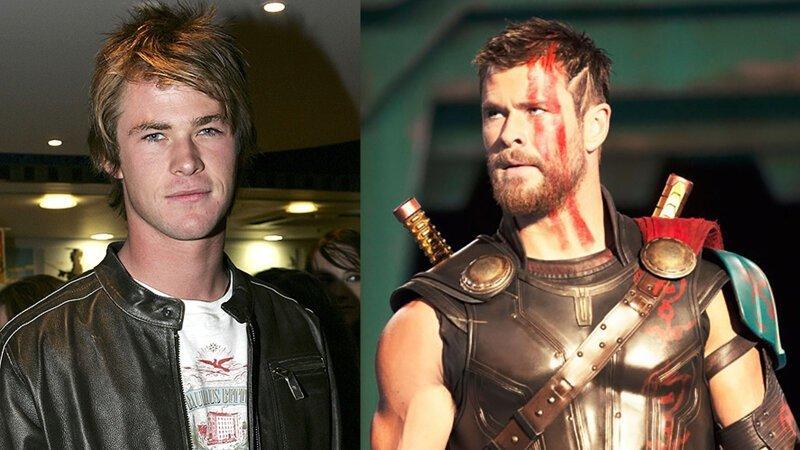 Тор – Крис Хэмсворт Avengers Endgame, актеры в детстве и сейчас, детство звезд, марвел, мстители, супергерои
