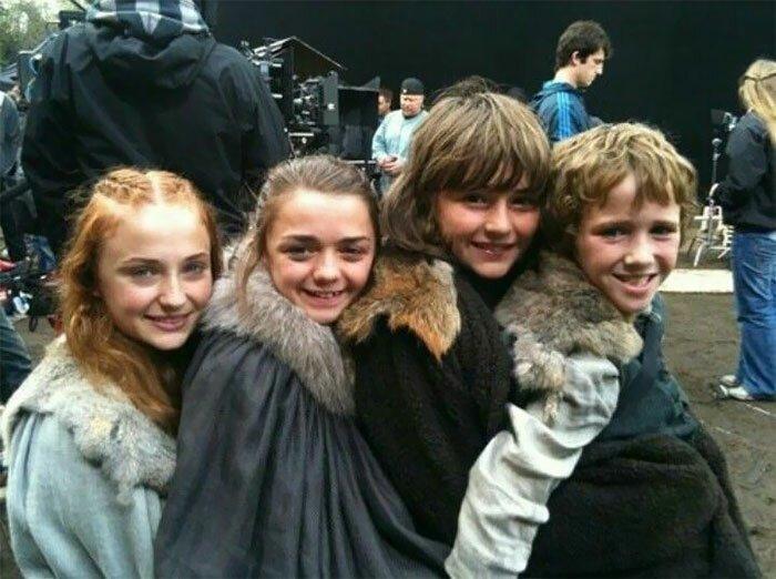 """Первый сезон. Как молоды мы были! """"Игра престолов"""", На съемочной площадке, актеры, за кадром, интересно, кино, сериал, съемки"""