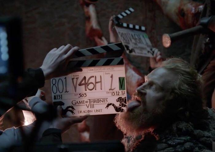 """Хлопушка только готовится, а актеры уже готовы! """"Игра престолов"""", На съемочной площадке, актеры, за кадром, интересно, кино, сериал, съемки"""