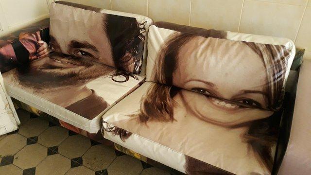 5. Подушки с изображением - отличный подарок, говорили они дизайн, прикол, смешно, ужасный дизайн, фото