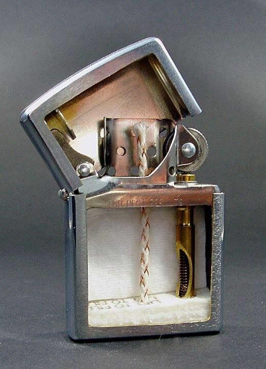 Зажигалка в разрезе в разрезе, вещи, другая сторона, интересное, факты