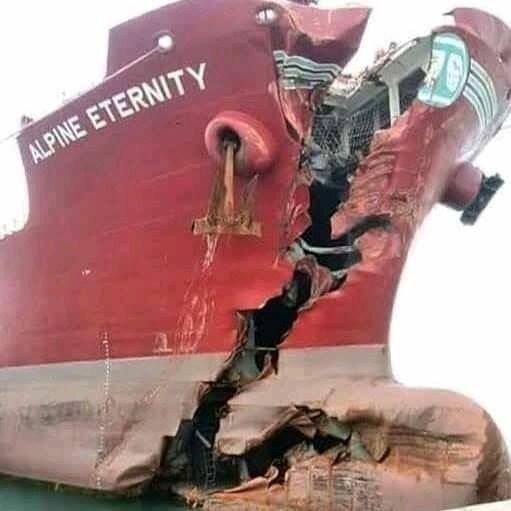 Последствия столкновений двух судов жизнь, интересное, корабли, красивые фото, красота, судно