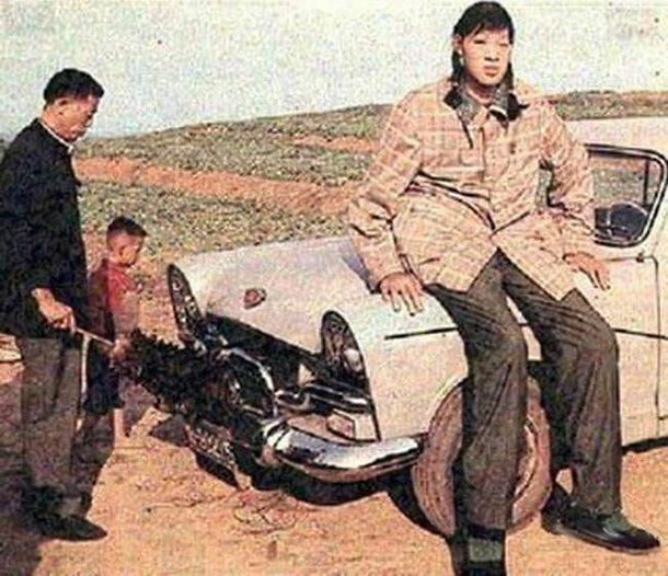 24. Цзэн Цзиньлянь - 248 см великаны, высокие девушки, высокие люди, гиганты, познавательно, самые высокие, самые высокие люди в мире, факты
