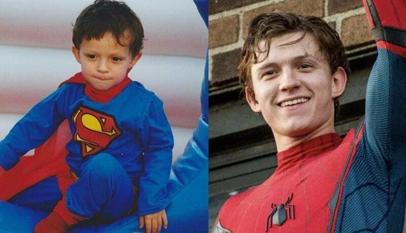 Питер Паркер / Человек-паук – Том Холланд Avengers Endgame, актеры в детстве и сейчас, детство звезд, марвел, мстители, супергерои