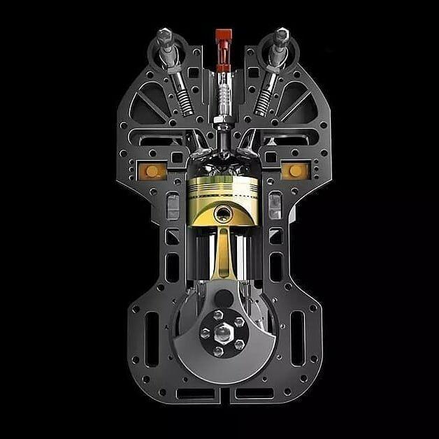 Двигатель в разрезе в разрезе, вещи, другая сторона, интересное, факты
