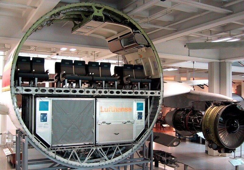 Самолет в разрезе, вещи, другая сторона, интересное, факты