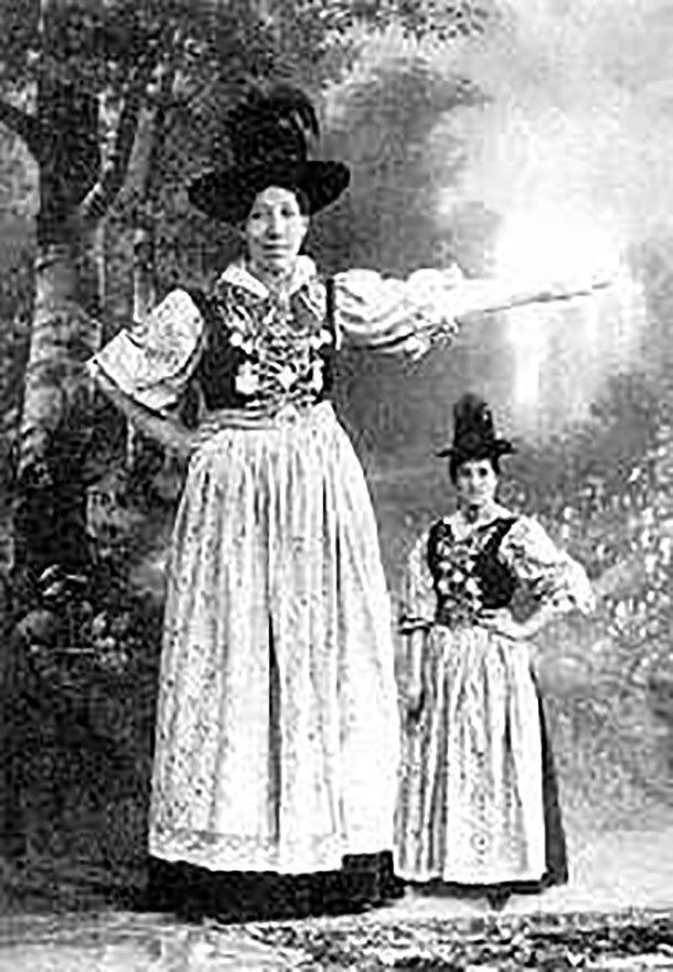 15. Мария Фасснауэр - 223 см великаны, высокие девушки, высокие люди, гиганты, познавательно, самые высокие, самые высокие люди в мире, факты