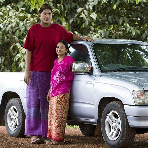 8. Мали Дуангди - 208 см великаны, высокие девушки, высокие люди, гиганты, познавательно, самые высокие, самые высокие люди в мире, факты