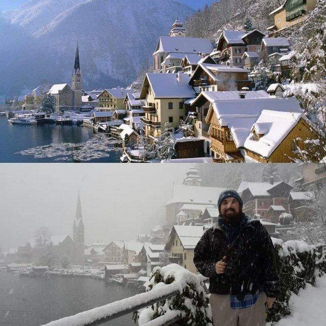 """15. """"Наше свадебное путешествие в Гальштат, Австрия. Ожидание и реальность"""" неудача, отпуск, отпуск не задался, прикол, путешествия, ужасные фото из отпуска, ужасный отпуск"""
