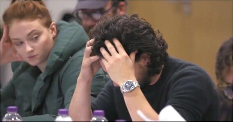 Кит Харингтон чуть не расплакался, узнав концовку сериала «Игра престолов» во время чтения сценария kit harington, видео, игра престолов, кино, реакция, сериал, фильм