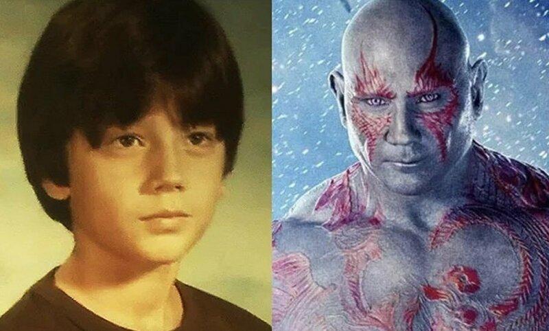 Дракс – Дэйв Батиста Avengers Endgame, актеры в детстве и сейчас, детство звезд, марвел, мстители, супергерои