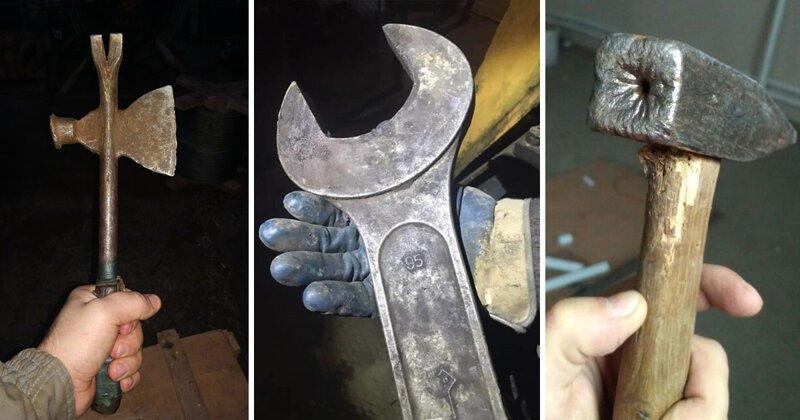 """Необычные инструменты, при виде которых вы скажете: """"Офигеть, дайте два!"""" инструменты, китай, ключ, молоток, отвертка, размер, сделал сам, юмор"""