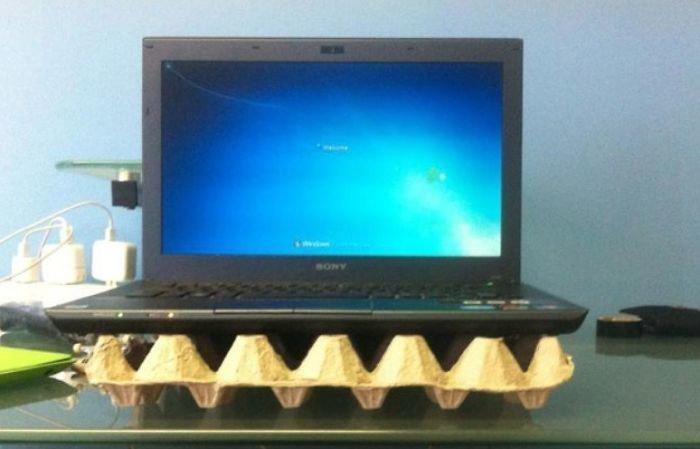 28. Бюджетный способ охладить ноутбук гениально, для дома, идеи, подборка, полезное, полезные идеи, советы, хитрости
