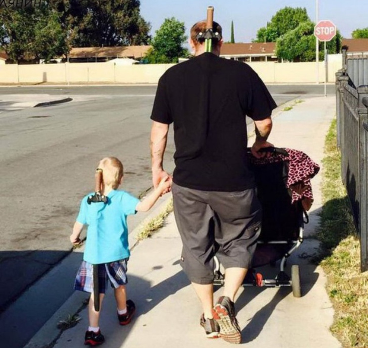 16 крутых мам и пап, которым впору вешать на шею медаль за родительство