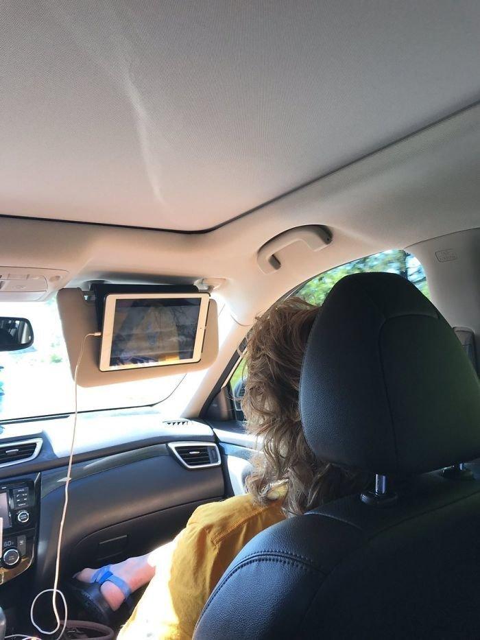 47. Лучший способ смотреть фильмы в машине гениально, для дома, идеи, подборка, полезное, полезные идеи, советы, хитрости