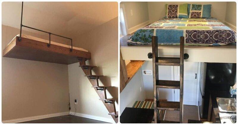 Двухэтажная комната: 20 классных примеров, как с умом использовать небольшую спальню дизайн, интерьер, квартиры, мебель, ремонт, фото