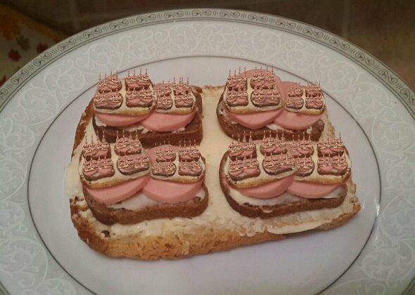Рекурсивный бутерброд подборка, прикол, рекурсия, фрактал, фракталы, юмор