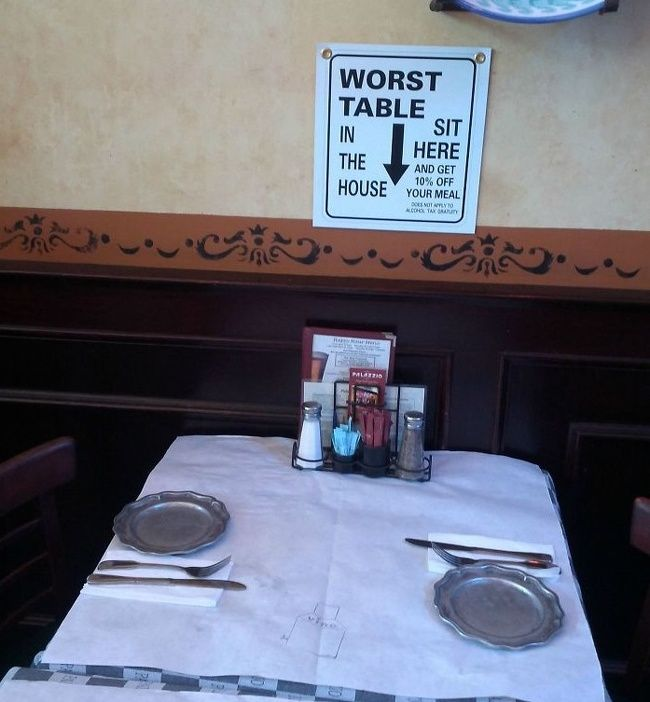 Худший столик