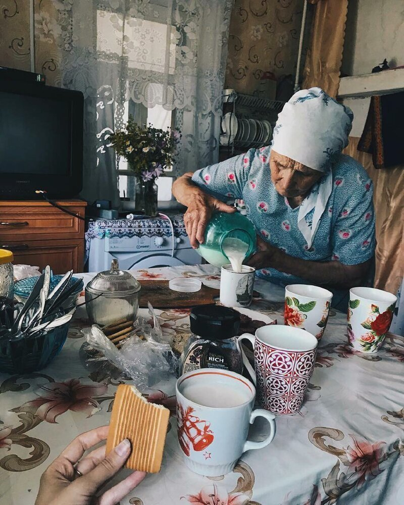 14. Самое ценное время бабушка, глубинка, деревня, детство, русская деревня, фото