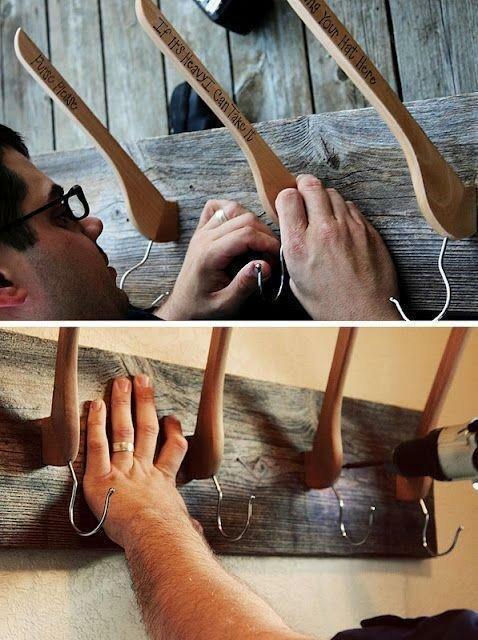 Необычная вешалка для прихожей креатив, польза, старые вещи, фото, хозяйство