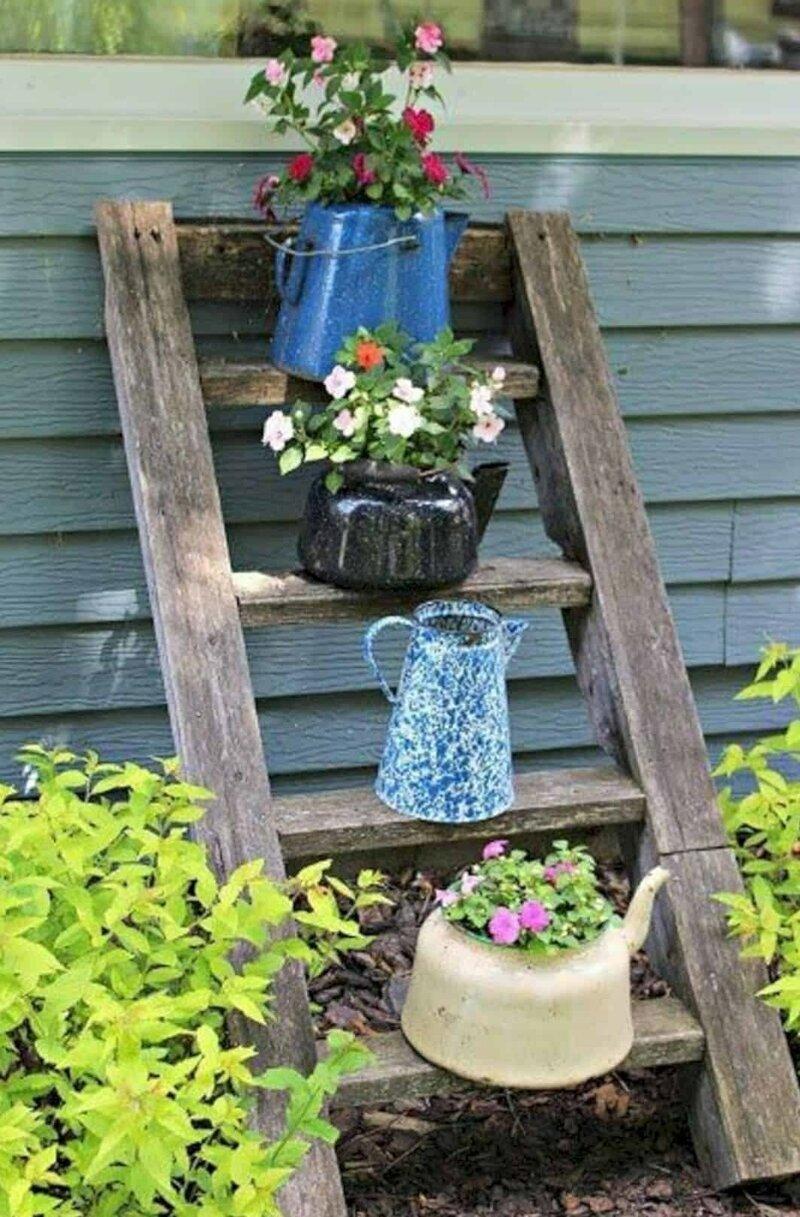Даже старой посудой можно украсить дачу креатив, польза, старые вещи, фото, хозяйство