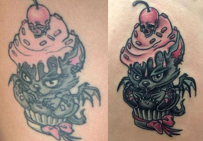 Цветная тату 5 лет спустя