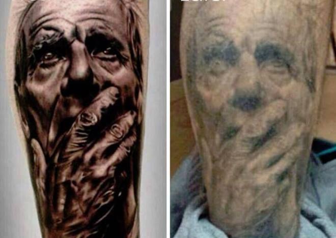 Как будет выглядеть тату через 15 лет