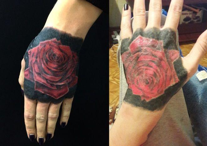 Татуировка на руке, которой 4 года