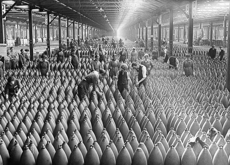 16. Артиллерийские снаряды во время Первой мировой войны, 1917 год интересно, исторические фото, история, фото, фото из прошлого