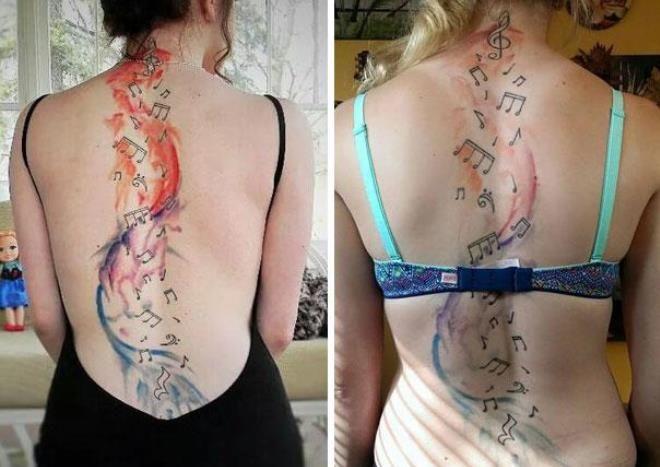 Татуировка на спине 5 лет спустя