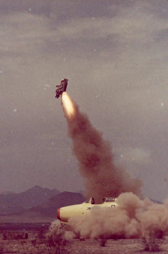 2. Тесты системы катапультирования, США, 1963 год интересно, исторические фото, история, фото, фото из прошлого