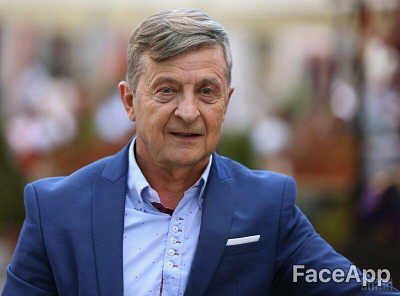 А вот Зеленского сразу так и не узнать... веселушка, знаменитости, интересное, приложение, старость, старые люди, фото