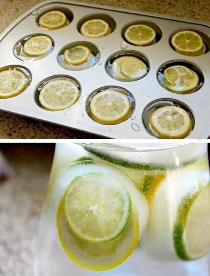 В коктейле, цитрусовые со льдом смотрятся великолепно, а ещё и вкусно Полезные, быт, дом, идеи, креативно, фото