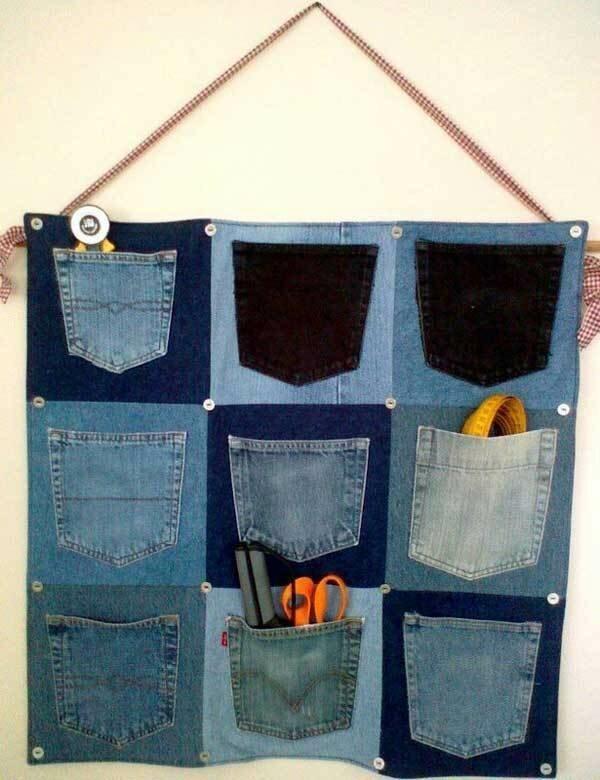 Старые джинсы тоже могут пригодиться креатив, польза, старые вещи, фото, хозяйство