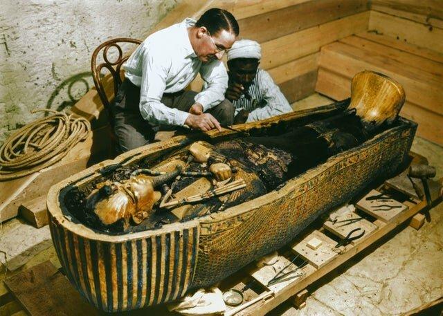 17. Открытие гробницы Тутанхамона в 1922 году интересно, исторические фото, история, фото, фото из прошлого