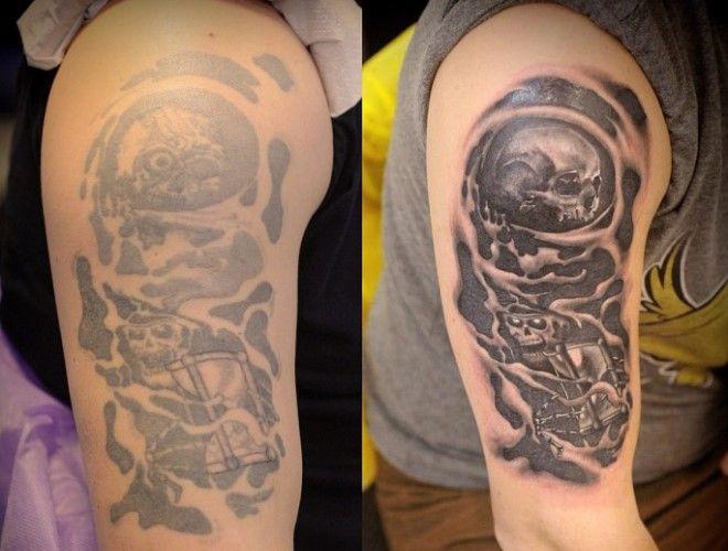 Татуировка на руке 10 лет спустя