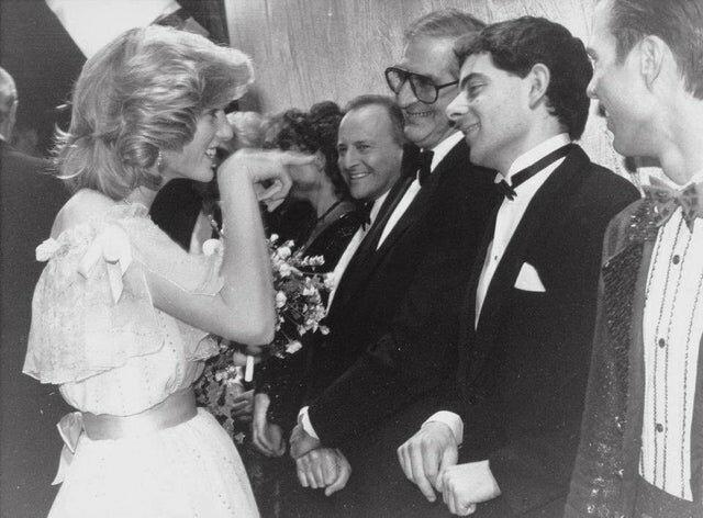 8. Принцесса Диана и Мистер Бин, встреча в 1984 году интересно, исторические фото, история, фото, фото из прошлого