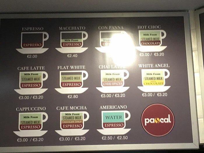 Меню в кофейне не просто перечисляет виды кофе, но и наглядно демонстрирует, что и в каких объемах входит в состав разных видов напитка Стиль, дизайн, идеи, комфорт, оригинально, свежий взгляд, творческий подход, удобство